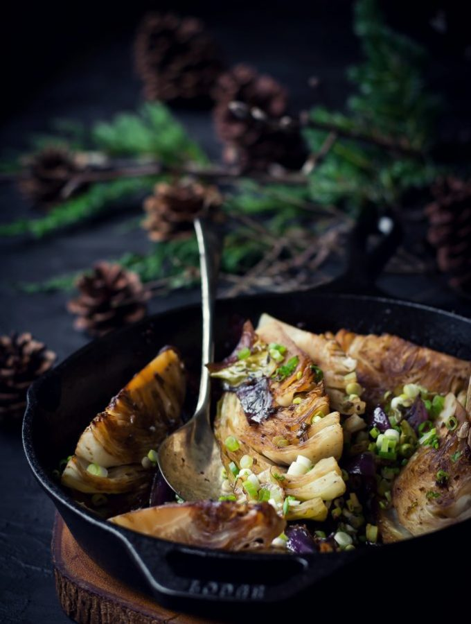 Butter and Soy braised Cabbage