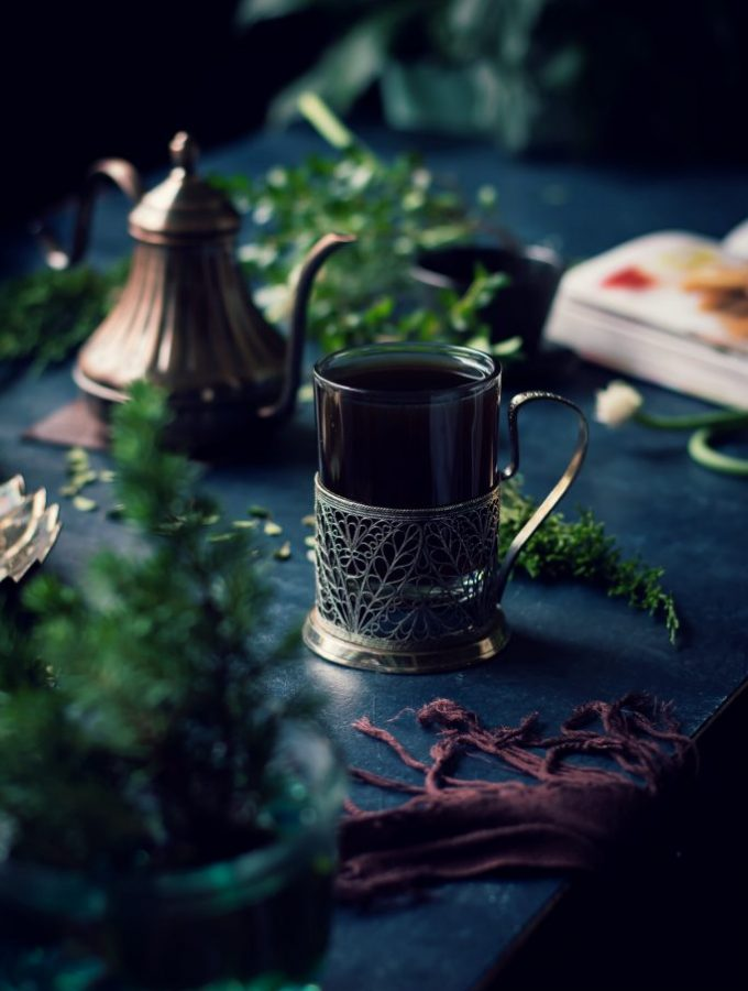 Kashayam is an Ayurvedic tea brewed w/ whole spices to boost immunity, fight indigestion and promote general well-being. Home remedy | Vegan | Food Styling | Food Photography