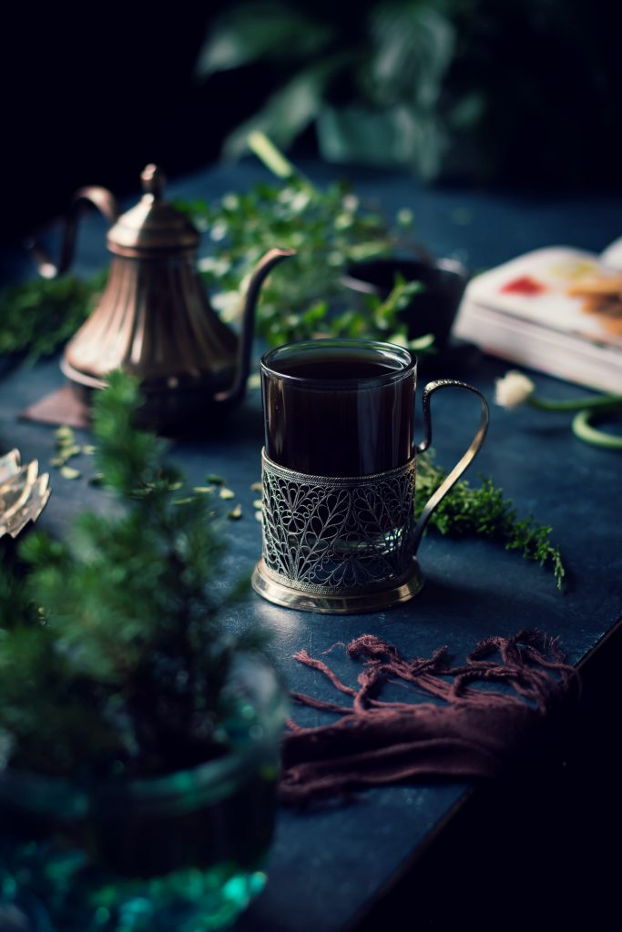 Kashayam is an Ayurvedic tea brewed w/ whole spices to boost immunity, fight indigestion and promote general well-being. Home remedy   Vegan   Food Styling   Food Photography
