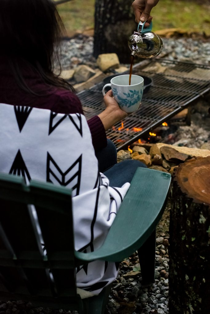 I've been dreaming of this Fall Cookout weekend for months now, and what finally transpired was everything and more. This gorgeous throw by Holli Zollinger + Deny Designs kept me cozy fireside throughout the cold weekend.
