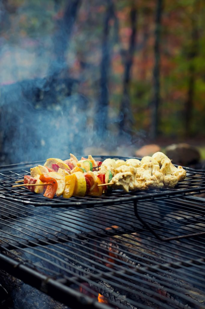 I've been dreaming of this Fall Cookout weekend for months now, and what finally transpired was everything and more. Grilled vegetables with a coconut cream curry marinade for lunch was absolutely delicious!