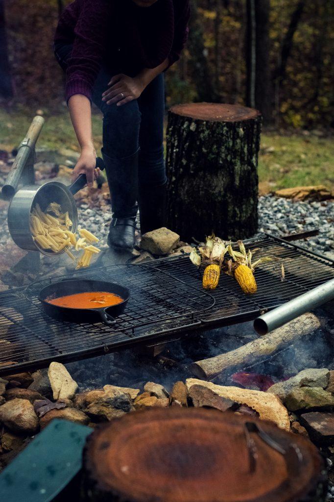 Fall Cookout Banana Pancakes W Cardamom Jaggery Syrup