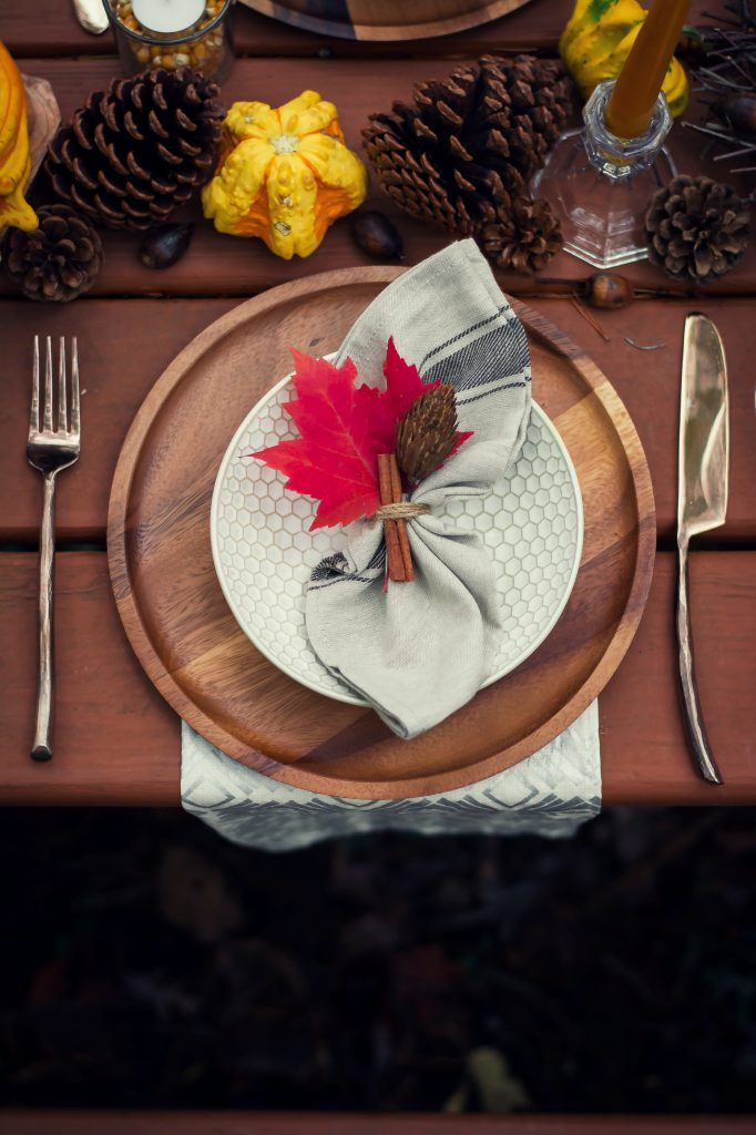 I've been dreaming of this Fall Cookout weekend for months now, and what finally transpired was everything and more. While lunch was on the grill, setting up the table was a delightful affair, with gorgeous flatware from World Market.
