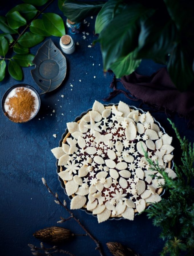 VEGAN Pumpkin Beet Pie {Halwa Pie}