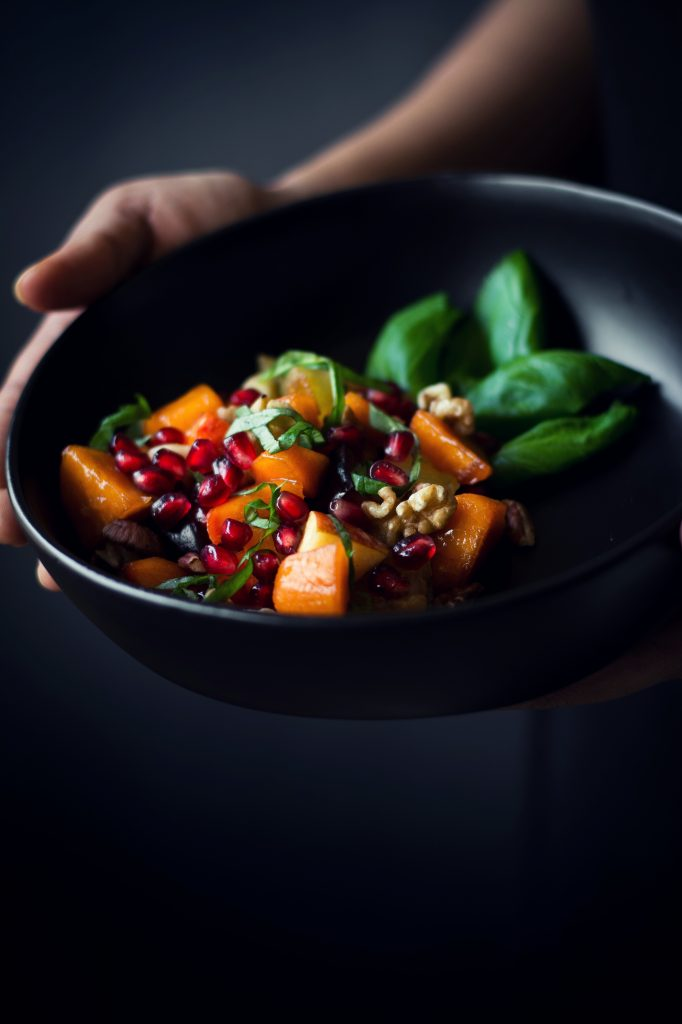 Winter Fruit Salad with Peach Cider dressing - Love is in my Tummy