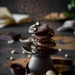 VEGAN Chocolate Almond Meringue Cookies