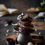 VEGAN Chocolate Almond Meringue Cookies