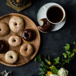 Super Soft BAKED Yeast Donuts {Eggless}