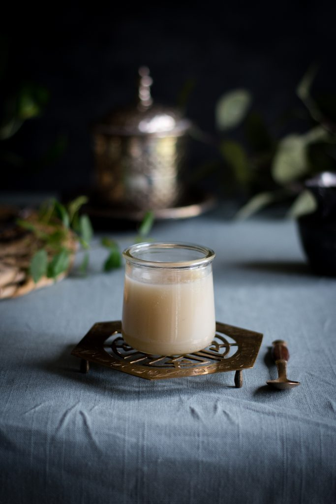 This Vegan condensed milk uses canned coconut milk as a dairy-free alternative to sweetened condensed milk in desserts. #vegan #dairyfree #foodphotography #foodstyling #coconutmilk