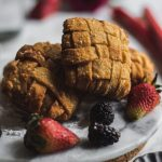 Fried Berry Rhubarb Pie