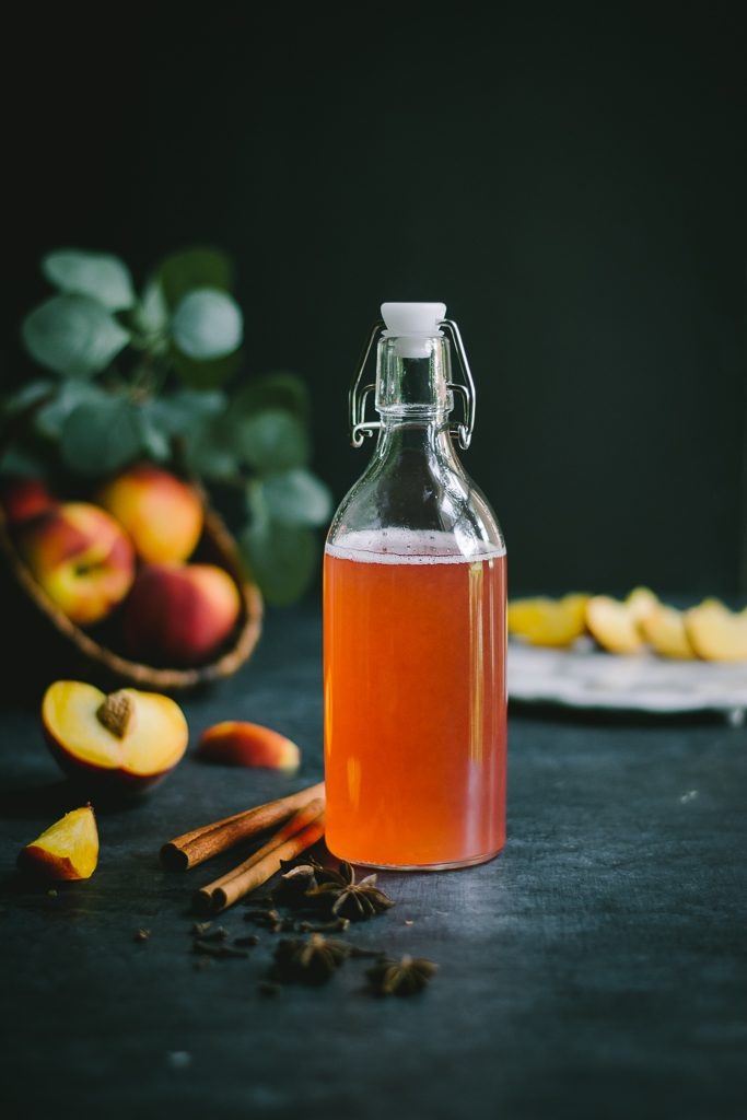 Flavored with Cinnamon, cloves and star anise, infused with a simple, but delicious peach syrup, this Spiced Peach Iced Tea is a 2 minute drink you'll be sipping all through summer.