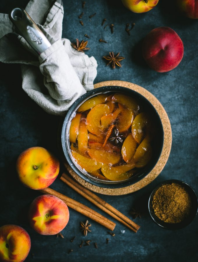 Spiced Peach Iced Tea [Non alcoholic]