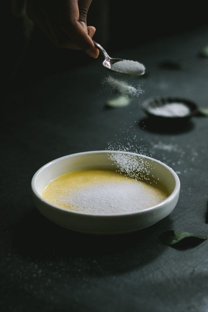 VEGAN Creme Brulee - made with coconut milk, vanilla bean paste & thickened with custard powder, this is a simple, yet dreamy dessert! #FoodPhotography #Vegan #Dessert #FoodStyling