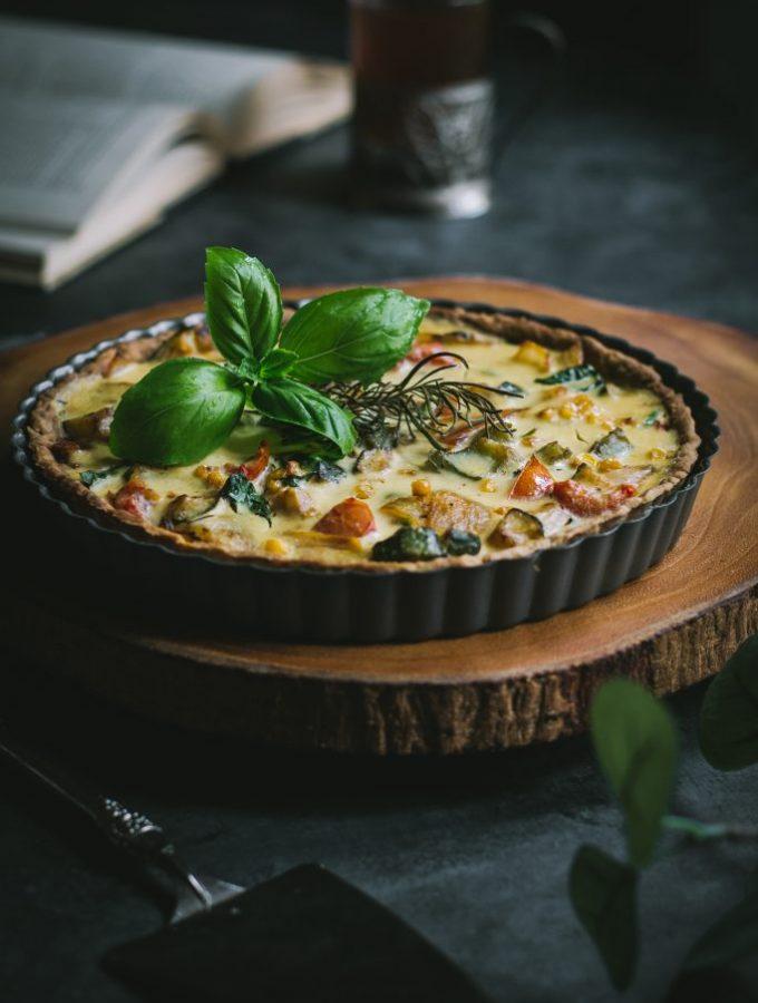 Vegan Quiche w/ Zucchini + Corn