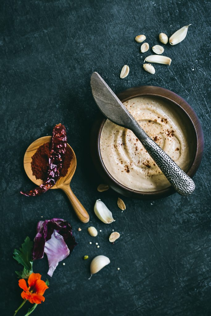 this Peanut Chutney goes perfectly well with the Whole Mung Beans and Quinoa Crepes flavored with ginger, green chillies and cumin make the most exquisite protein-rich crepes. #vegan #glutenfree
