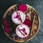 VEGAN Spiced Beet Chai Latte w/ rose water