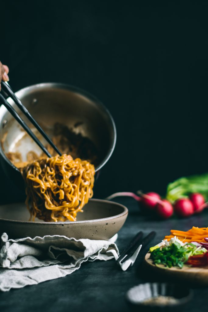 Everyone needs a healthy dose of comfort food from time to time, and there's nothing more comforting than this Easy Harissa Garlic Ramen.