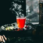A Steaming cup of Simple Cranberry Hibiscus Tea