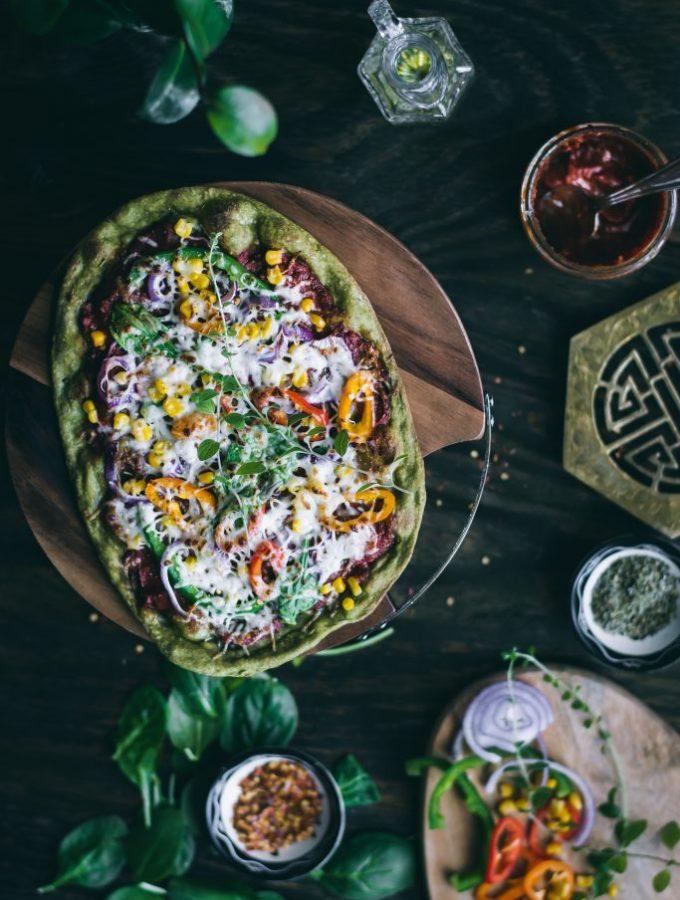 Spinach Flatbread Pizza