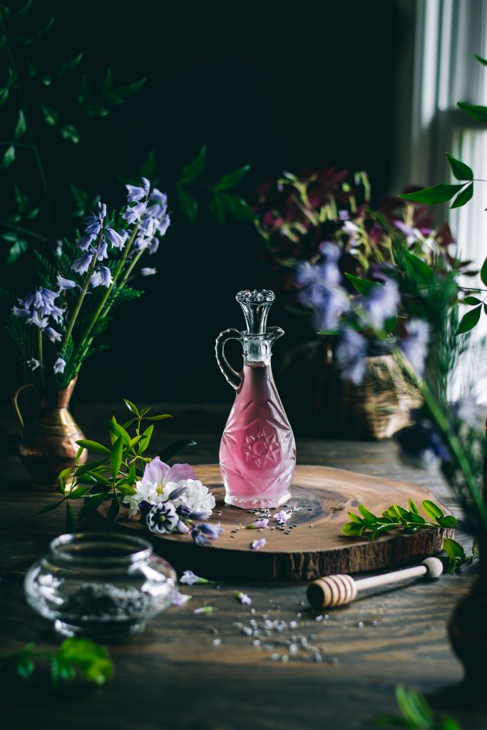 Lavender Syrup for Lavender Lemonade. Every sip of this fragrant, 5 ingredient Lavender Lemonade will remind you of the floral beauty of Spring.