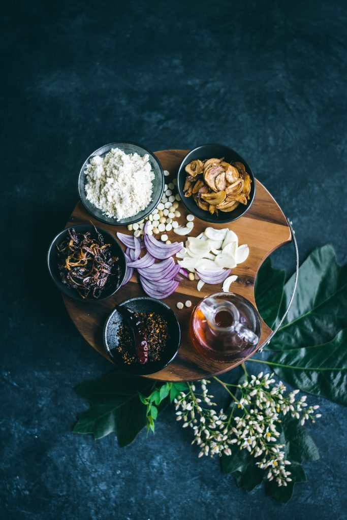 Burmese condiments that