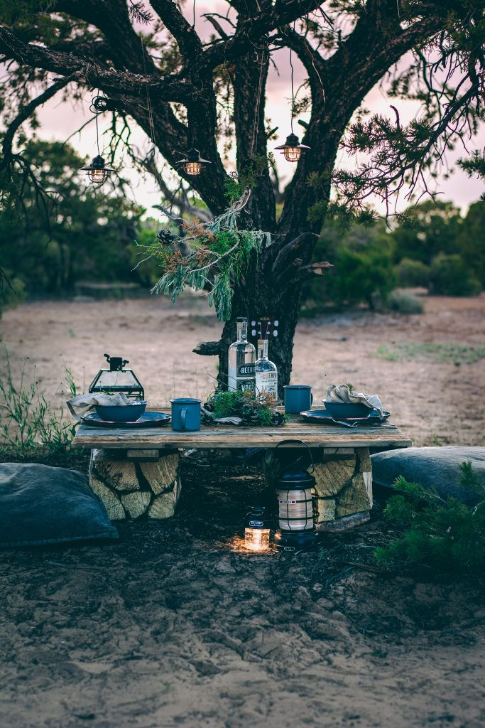 Sunset Tablescape in the remote Utah desert