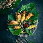 Fried Squash Blossom stuffed with potato