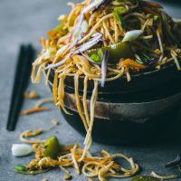 Scrambled Tofu Curry Noodles
