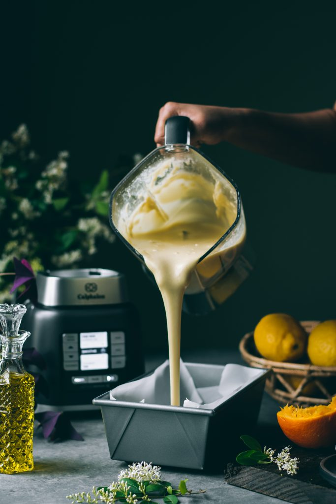 Batter for the VEGAN Blender Orange Cake