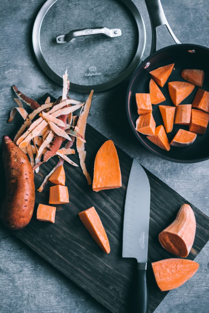 Cooking sweet potatoes for Sweet Potato Casserole