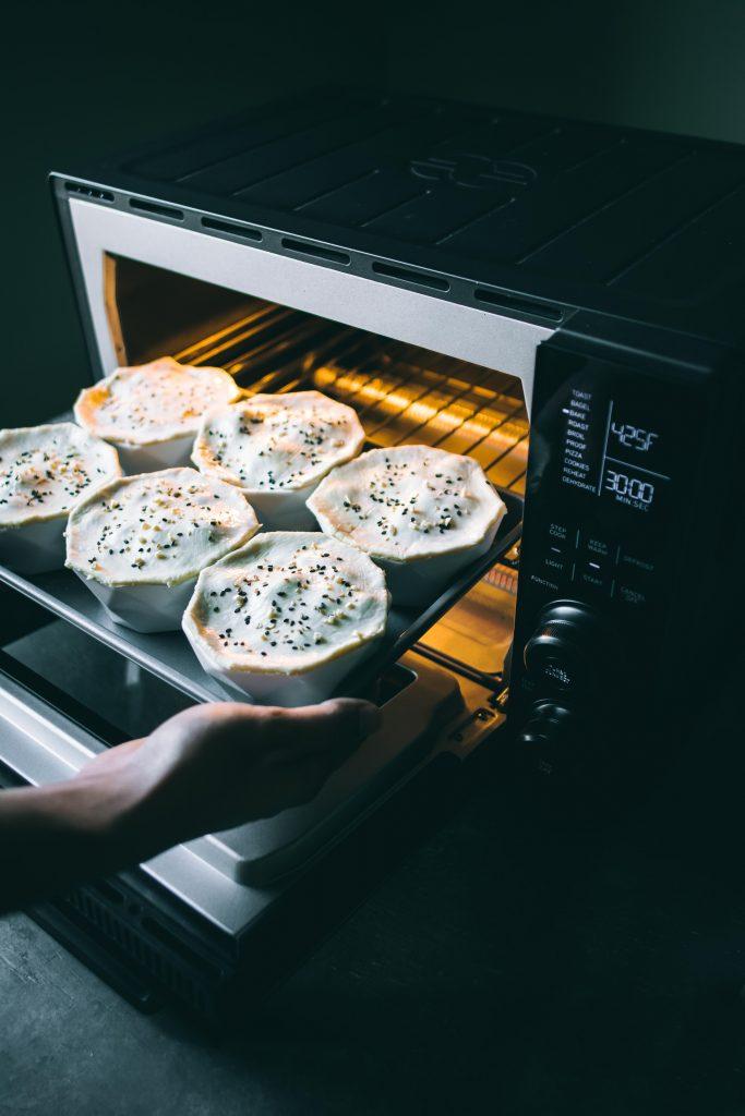 VEGAN Korma Pot Pie ready to go into the oven to bake