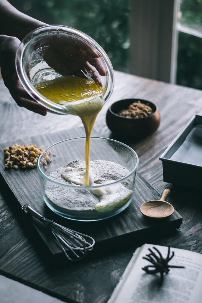 VEGAN Teff Coffee Cake in the making