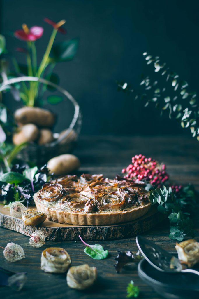 VEGAN Potato Rose Tart