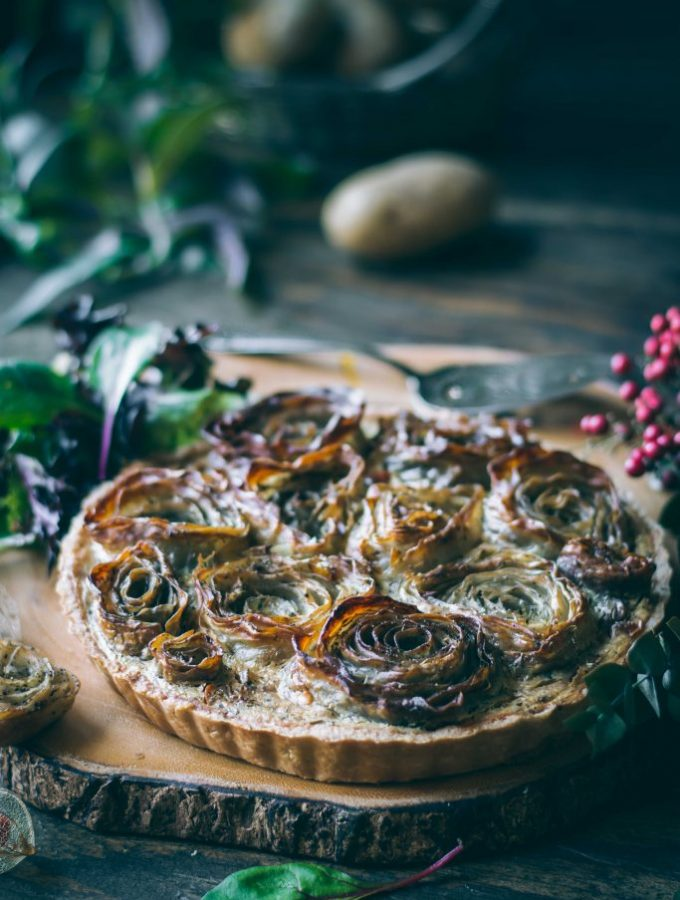 VEGAN Potato Rose Tart